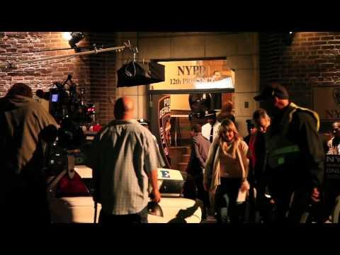 On Set  CSI NY shooting in Los Angeles  Sela Ward & Jason Wiles