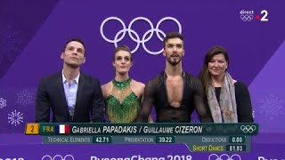 JO 2018 : Danse sur glace : Deuxième place pour le duo Papadakis/Cizeron sur le programme court