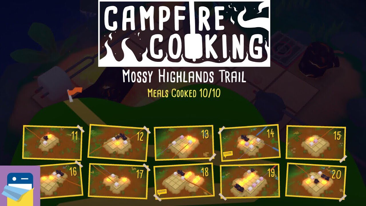 Campfire Cooking Levels 11 12 13 14 15 16 17 18 19 20 Solutions Walkthrough By Layton Hawkes