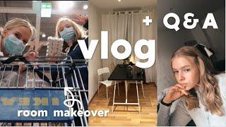 wohnzimmer makeover, Ikea x benti & Q&A | vlog | Hanna Marie
