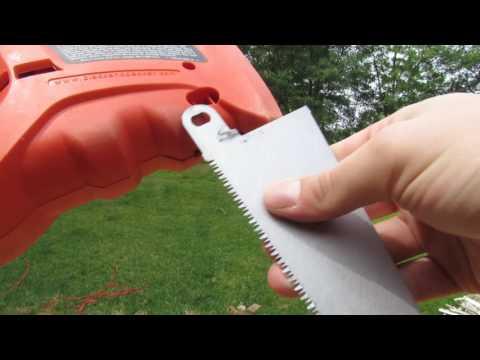 How To Attach Blade to Black & Decker power handsaw