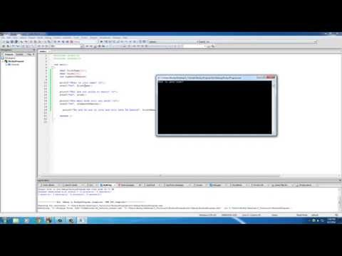 C Programming Tutorial - 11 - Getting Input with scanf