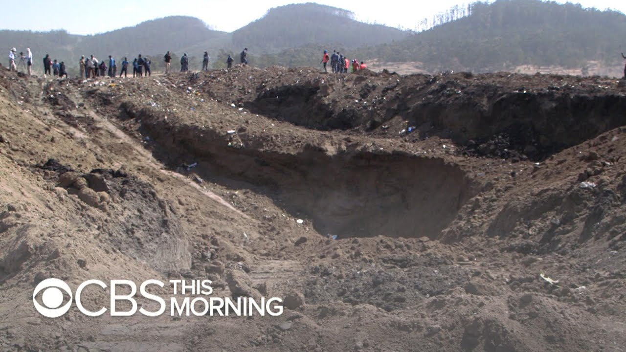 Ethiopian Airlines crash: Huge crater shows powerful impact of jet