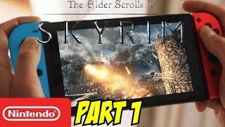 Skyrim Nintendo Switch Gameplay Walkthrough Part 1