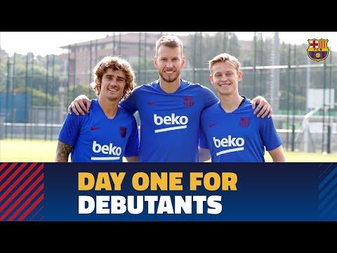 Griezmann, De Jong and Neto in first Barça workout