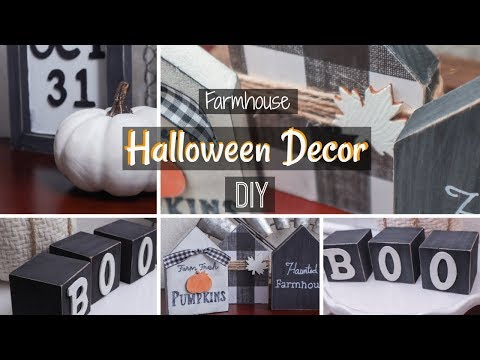 Farmhouse Halloween Decor DIY | Fall Decor