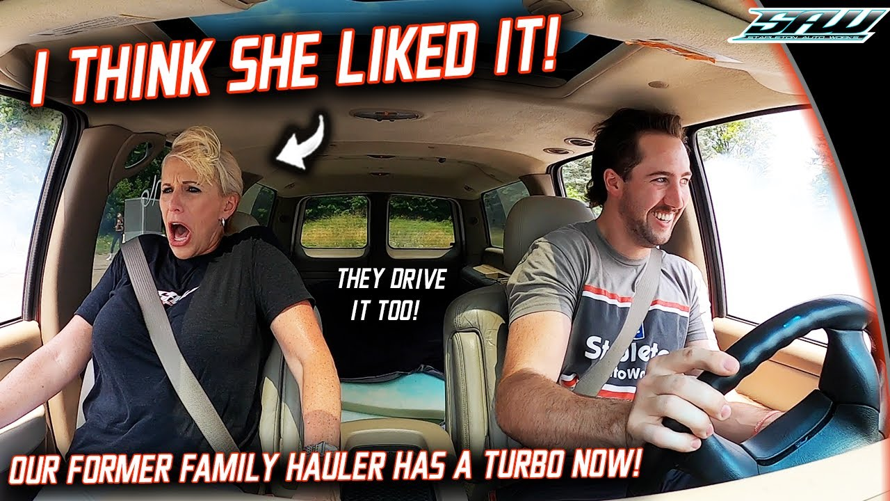 My Mom and Sister React to 600HP Turbo Yukon XL: The SAME One We Rode Around In 15 Years Ago!