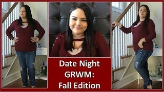 FALL DATE NIGHT GRWM! | MAKEUP HAIR & OUTFIT!