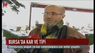 Bursa'da kar ve tipi (Haber 10 01 2017)