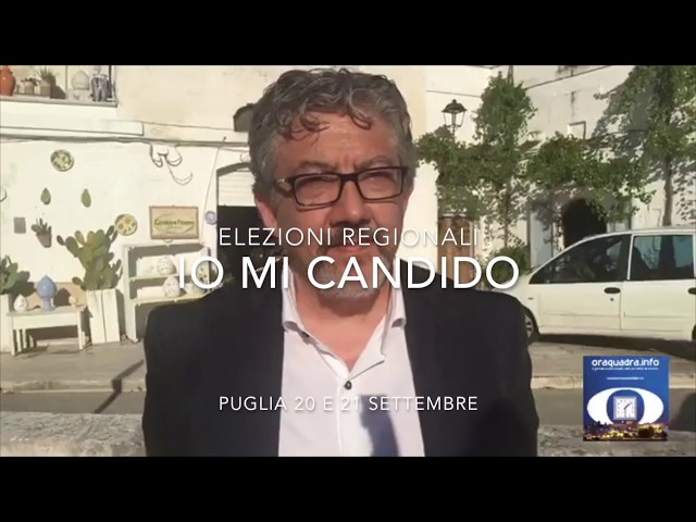 #IoMiCandido Elezioni Regionali Puglia2020. Francesco Pierri (Udc)