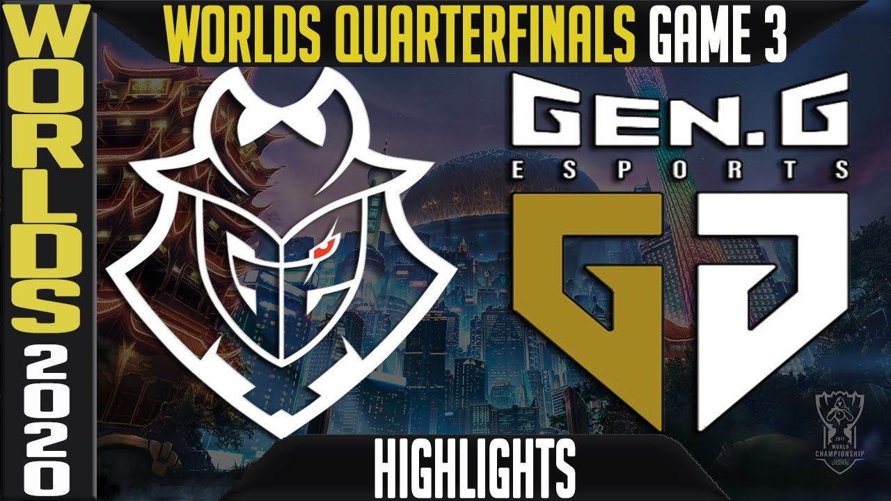 G2 vs GEN Highlights Game 3 | Quarterfinals Worlds 2020 Playoffs | G2 Esports vs Gen G G3