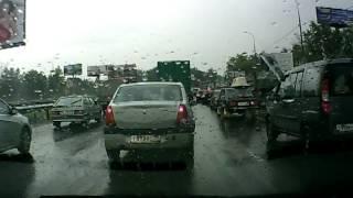 пробка на дмитровском шоссе в МО и убитая рогачёвска
