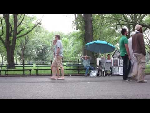 Central Park People Watching
