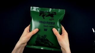 ASMR Unboxing a military ration Part 1