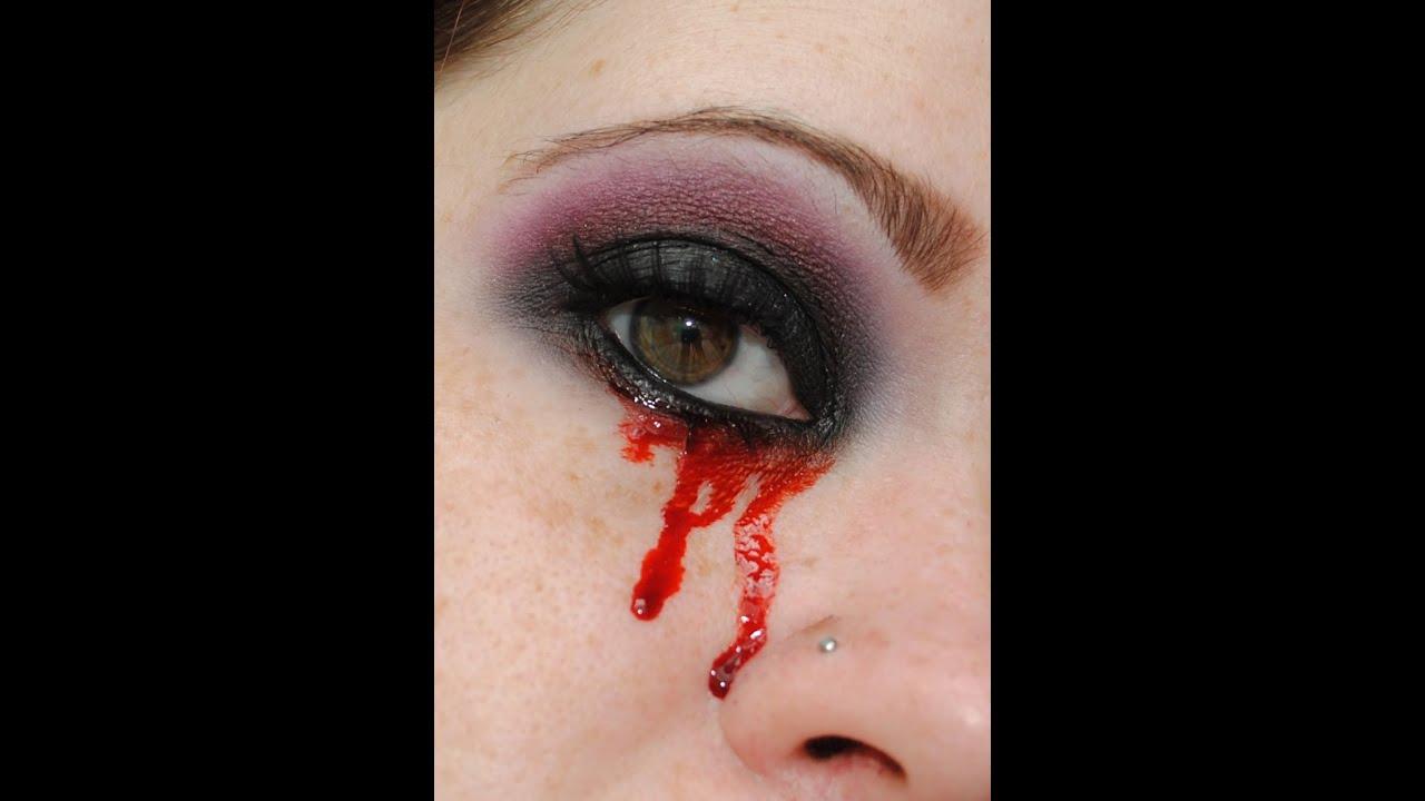 Crying Blood- TrueBlood Inspired Makeup Tutorial