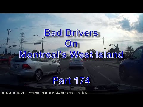 Bad Drivers on Montreal's West Island Part 174