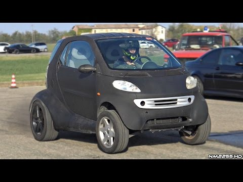 Incredibly FAST Smart Car VW 1.9 TDI Engine Swap Goes Drag Racing!