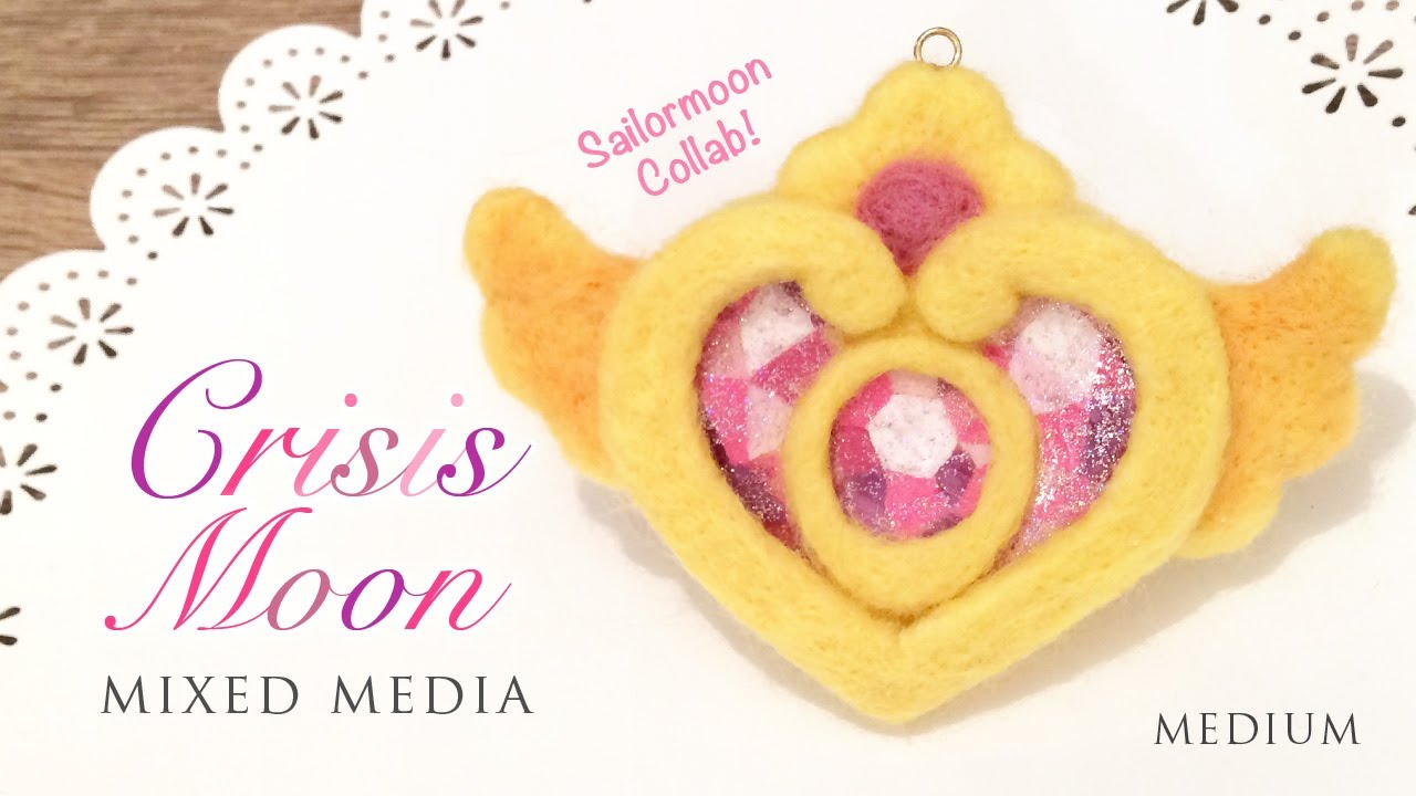 Sailormoon Crisis Moon Needle Felt - Free Template! Collab with ...