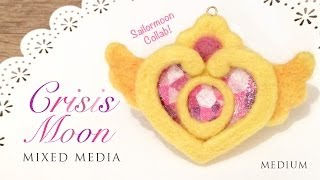 Sailormoon Crisis Moon Needle Felt - Free Template! Collab with Makocinnos
