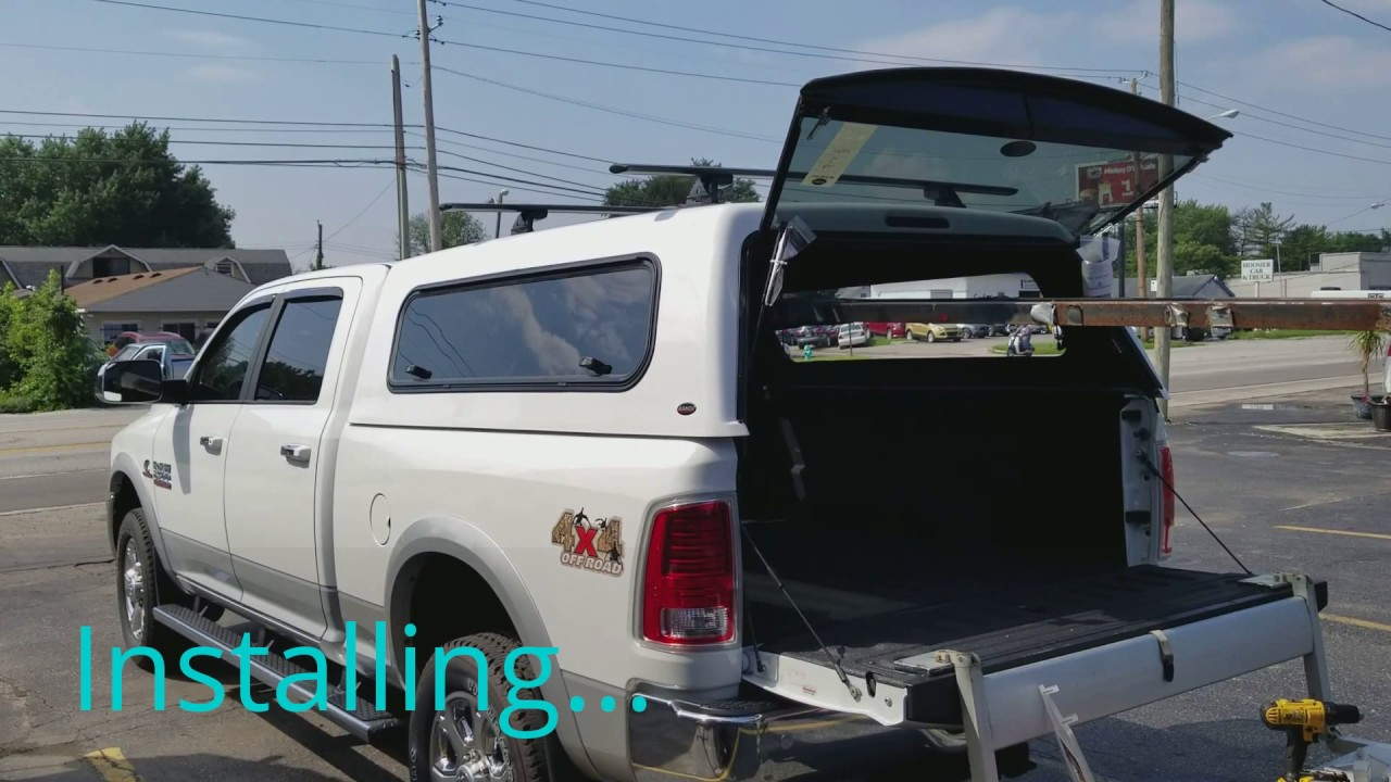 Ram 2500 with a Ranch camper shell - YouTube