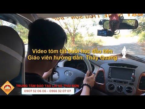 Buổi Học Lái Xe Ôtô B2 Đầu Tiên Tại Trường Dạy Lái Xe Thái Sơn - Bộ Quốc Phòng