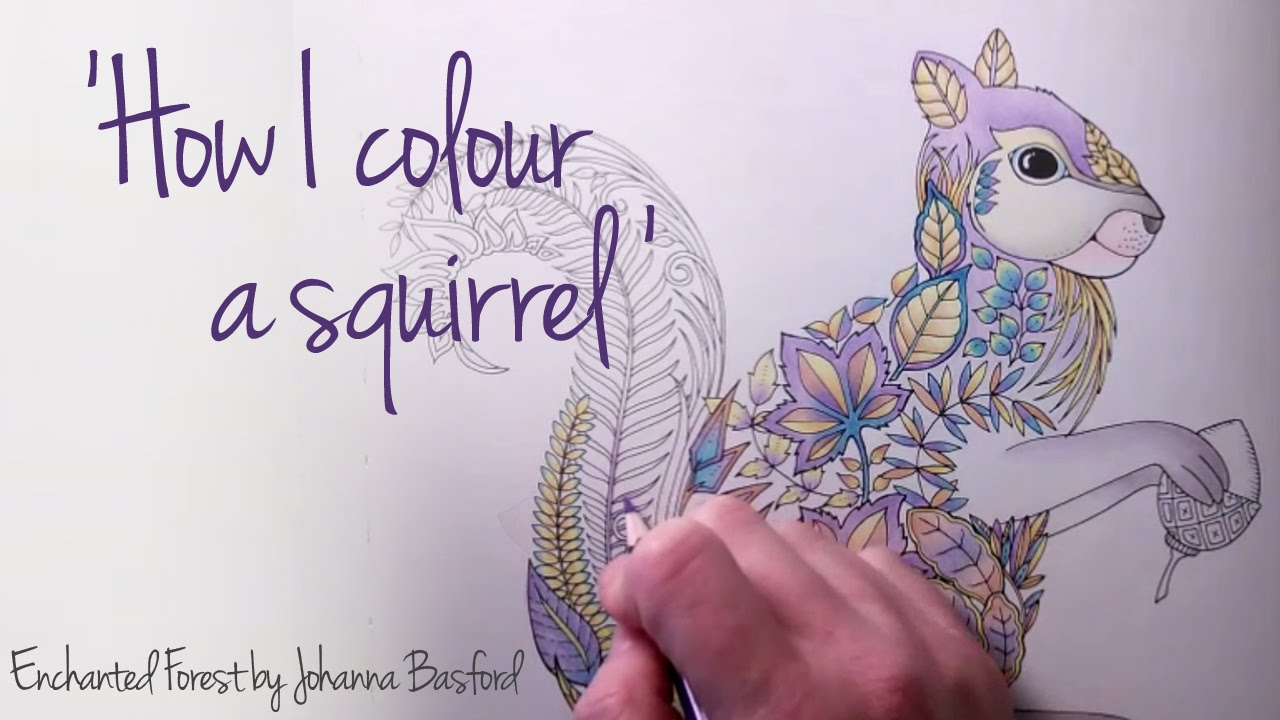 How I Colour A Squirrel To Version Enchanted Forest