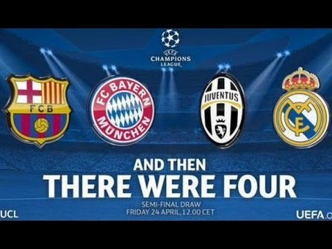 Draw Uefa Champions League ~ Semi Finals 2014 2015 HD