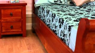 Pacino Wooden Bed (wild Cherry) - Sweet Dreams