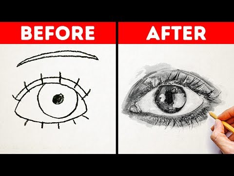 HOW TO DRAW LIKE A PRO || Easy Drawing Tutorials And Tips