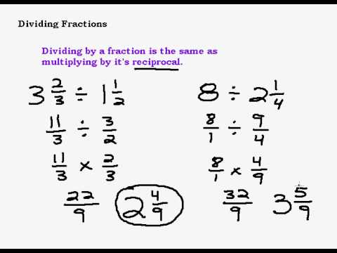 Literacy &amp- Math Ideas: Three Ways to Divide Fractions | math ...