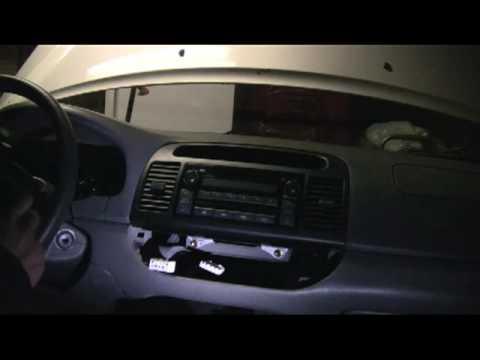 2002 camry radio removal