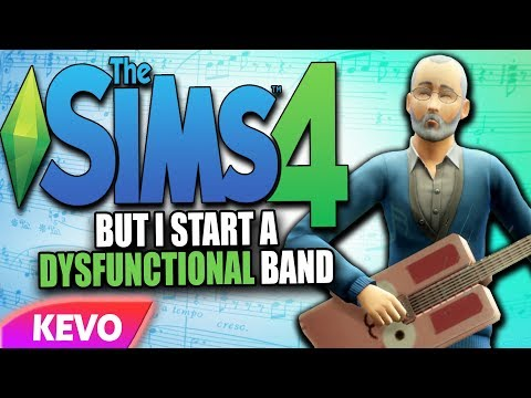 Sims 4 but I start a dysfunctional band