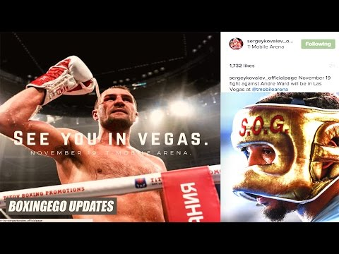 Sergey Kovalev vs Andre Ward OFFICIAL Fight Finalized   Haters Hate & Scurry #NewMedia