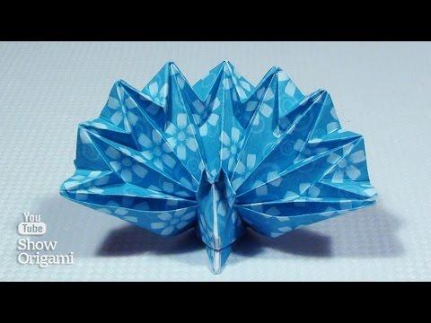 видео: Оригами #павлин из бумаги