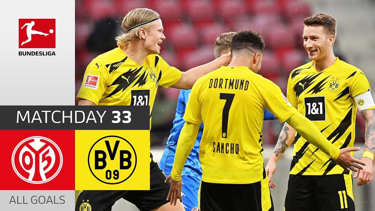 Strong Bvb Secure Champions League Mainz 05 Borussia Dortmund 1 3 All Goals Matchday 33 Youtube
