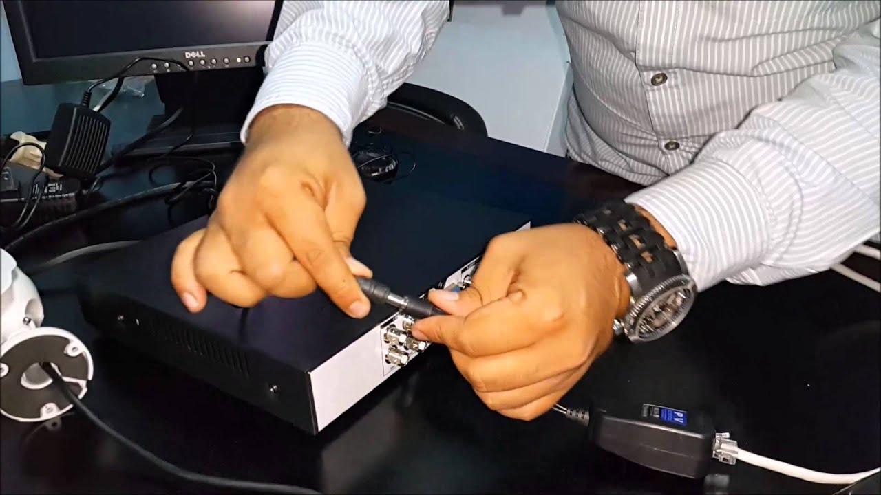 Como conectar camaras de seguridad via utp y video balun - Camara de seguridad ...