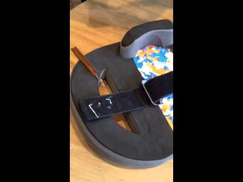 Bounceboard Velcro strap cleaning