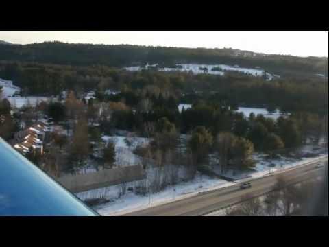 PC12 landing KLCI Laconia New Hampshire