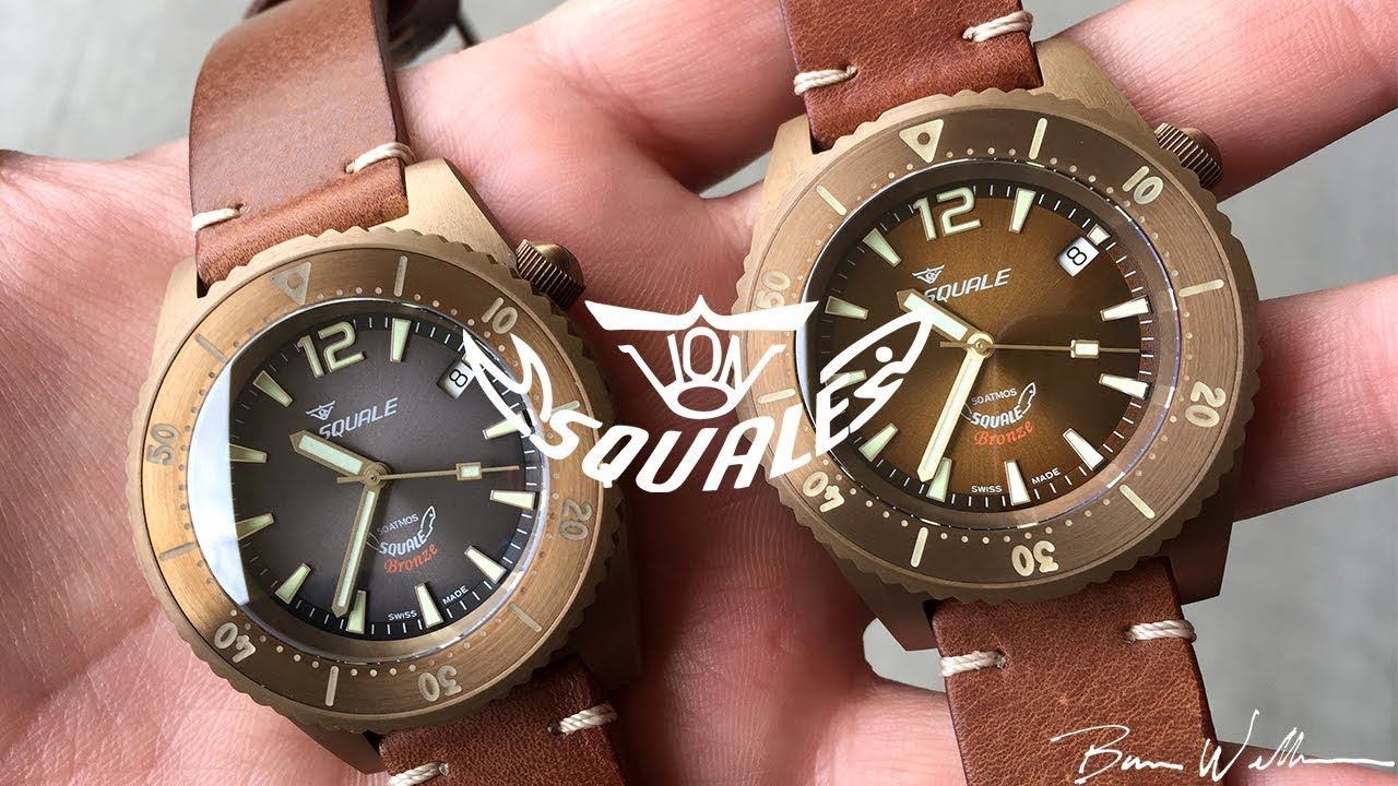 atmos edition tattico squale black watches