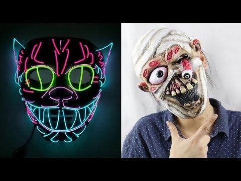 10 Страшные маски на Хэллоуин c Алиэкспресс Aliexpress Mask Halloween 2019 Шок жуткие маски из Китая