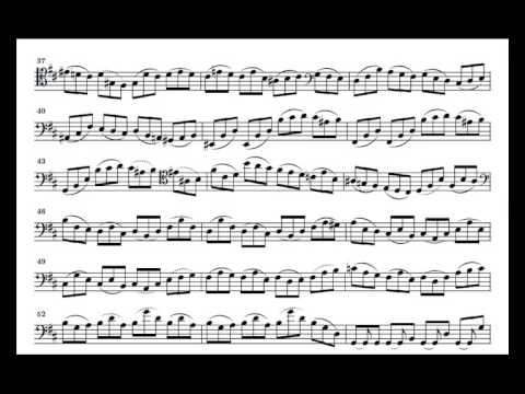 J. S. Bach Cello Suite n. 6 BWV 1012 - 1. Prelude - Piano Transcription [tbpt8]