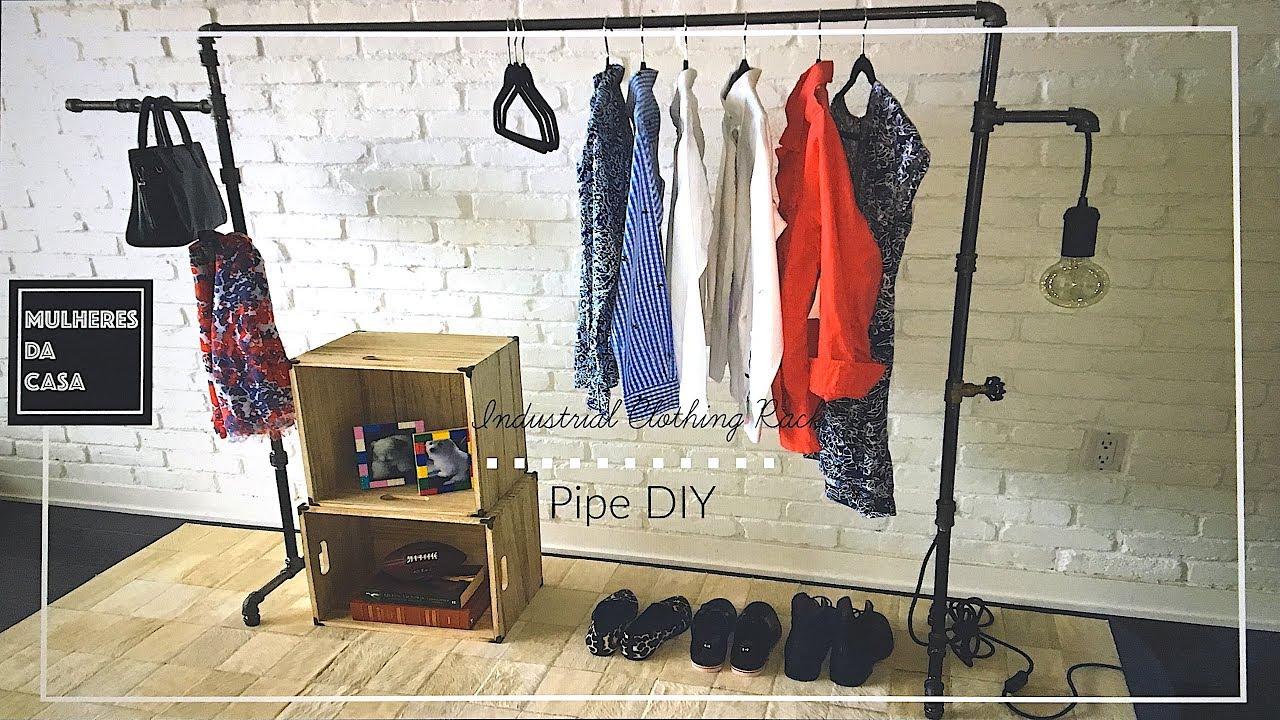 diy industrial pipe clothing rack easy pipe clothing rack diy