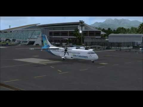 [FSX REALISM FULL ATC] Martinique IFR departure example - ATR72-500 Air Caraïbes IVAO