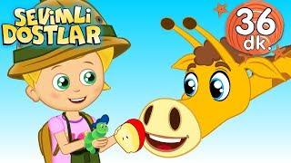 Zürafa şarkısı ve Sevimli Dostlar Bebek Şarkıları | Adisebaba Kids Songs and Nur