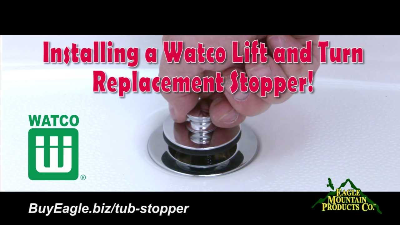 watco lift and turn replacement bath tub stopper installation