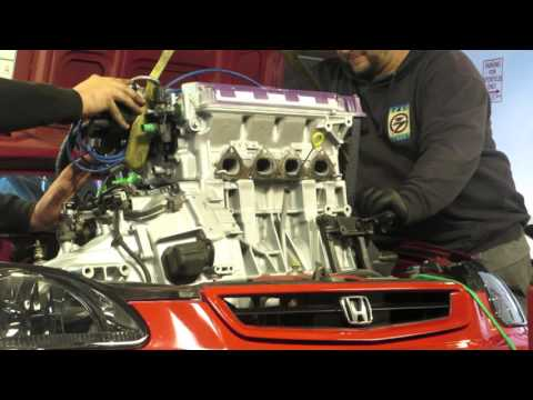 B16A engine swap EK civic HSG EP. 3-07