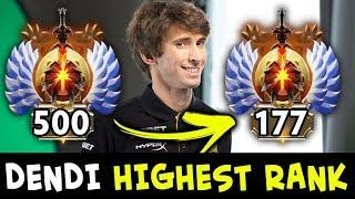 Dendi HIGHEST RANK in 2nd season — road to TOP-100