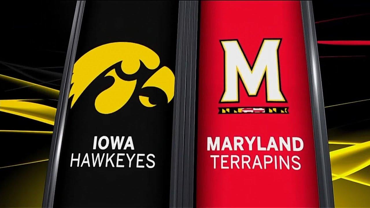 Iowa at Maryland - Men's Basketball Highlights - YouTube
