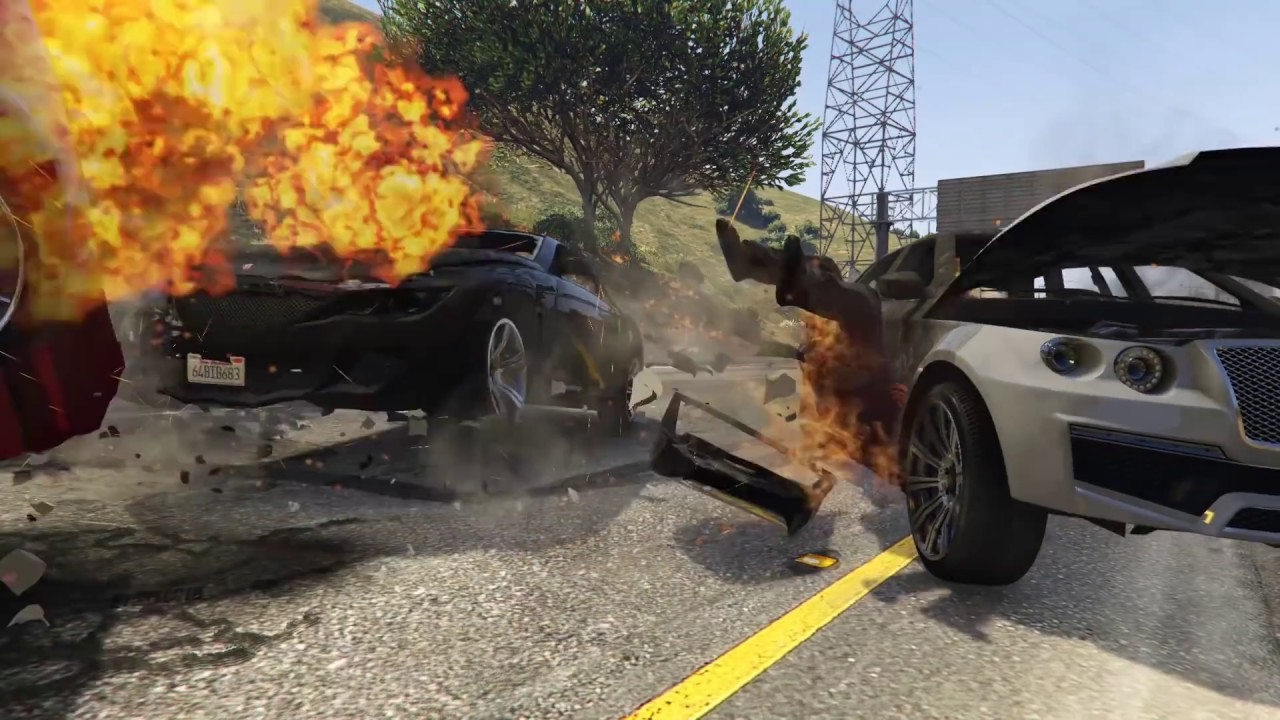 EXPLOSION CAR CRASHES IN GTA 5