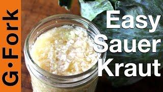 Easy Sauerkraut Recipe - Gardenfork.tv